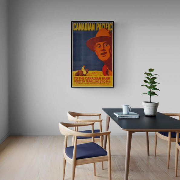 Canadian_Pacific_Minimalist_dining_room_with_pot_plant
