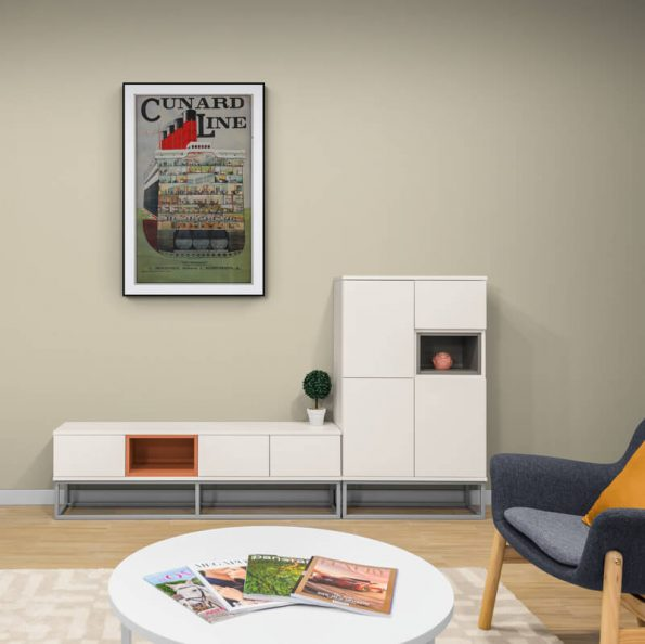 Cunard_Line_Comfy_lounge_with_fireplace_and_large_cabinet