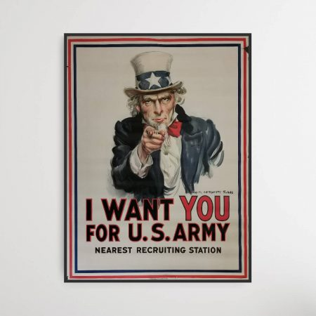 I Want You For US Army - WW1 poster