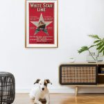 white-star-line-red-poster